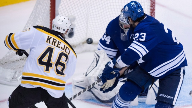 David Krejci gets his 2nd career playoff hat trick with a game-winning goal in overtime against James Reimer (5/8/13)